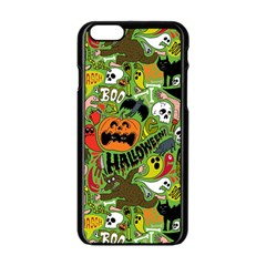 Halloween Pattern Apple Iphone 6/6s Black Enamel Case by Jojostore