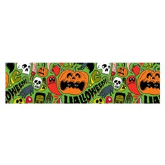 Halloween Pattern Satin Scarf (oblong) by Jojostore