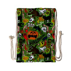 Halloween Pattern Drawstring Bag (small) by Jojostore