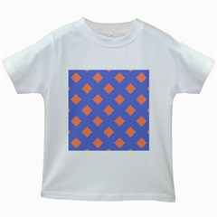 Orange Blue Kids White T Shirts