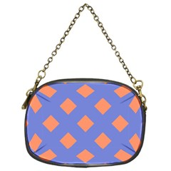Orange Blue Chain Purses (one Side)  by Jojostore