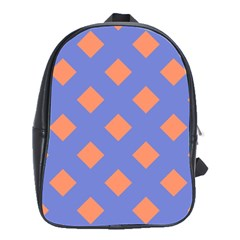 Orange Blue School Bags(large)  by Jojostore