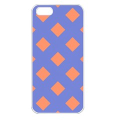 Orange Blue Apple Iphone 5 Seamless Case (white) by Jojostore