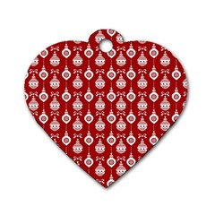Light Red Lampion Dog Tag Heart (one Side) by Jojostore