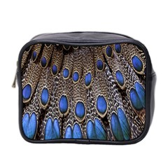 Feathers Peacock Light Mini Toiletries Bag 2 Side