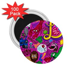 Pattern Monsters 2 25  Magnets (100 Pack)