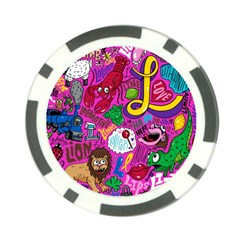 Pattern Monsters Poker Chip Card Guards by Jojostore
