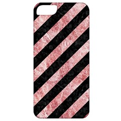 Stripes3 Black Marble & Red & White Marble Apple Iphone 5 Classic Hardshell Case