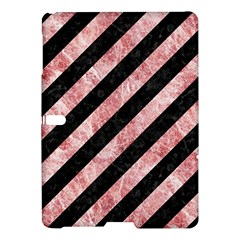 Stripes3 Black Marble & Red & White Marble Samsung Galaxy Tab S (10 5 ) Hardshell Case  by trendistuff