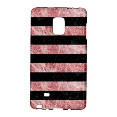 Stripes2 Black Marble & Red & White Marble Samsung Galaxy Note Edge Hardshell Case by trendistuff