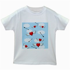Love Hunting Kids White T Shirts by Valentinaart