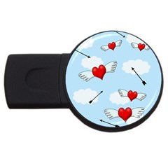 Love Hunting Usb Flash Drive Round (4 Gb)  by Valentinaart