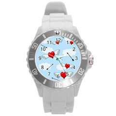 Love Hunting Round Plastic Sport Watch (l) by Valentinaart