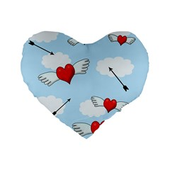 Love Hunting Standard 16  Premium Flano Heart Shape Cushions by Valentinaart