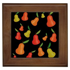 Pears Pattern Framed Tiles by Valentinaart