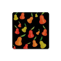 Pears Pattern Square Magnet by Valentinaart