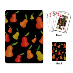 Pears Pattern Playing Card by Valentinaart