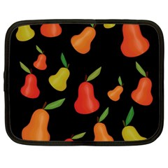 Pears Pattern Netbook Case (large) by Valentinaart