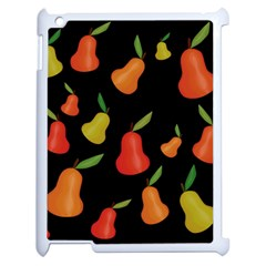 Pears Pattern Apple Ipad 2 Case (white) by Valentinaart