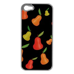 Pears Pattern Apple Iphone 5 Case (silver) by Valentinaart