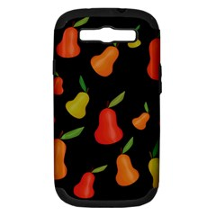Pears Pattern Samsung Galaxy S Iii Hardshell Case (pc+silicone) by Valentinaart