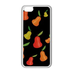 Pears Pattern Apple Iphone 5c Seamless Case (white) by Valentinaart