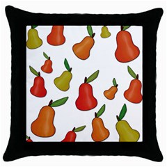 Decorative Pears Pattern Throw Pillow Case (black)