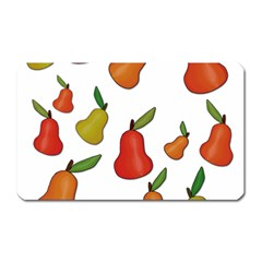 Decorative Pears Pattern Magnet (rectangular) by Valentinaart