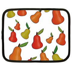 Decorative Pears Pattern Netbook Case (large) by Valentinaart