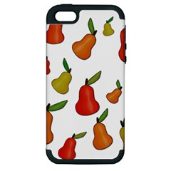 Decorative Pears Pattern Apple Iphone 5 Hardshell Case (pc+silicone) by Valentinaart
