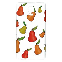 Decorative Pears Pattern Galaxy Note 4 Back Case by Valentinaart