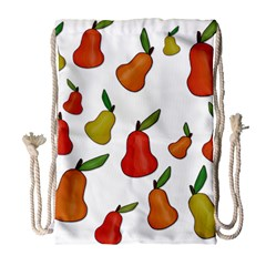 Decorative Pears Pattern Drawstring Bag (large) by Valentinaart