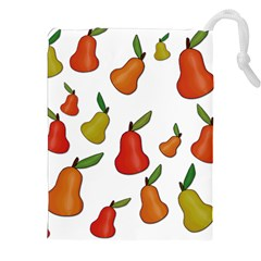 Decorative Pears Pattern Drawstring Pouches (xxl) by Valentinaart