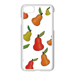 Decorative Pears Pattern Apple Iphone 7 Seamless Case (white) by Valentinaart