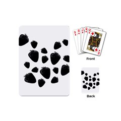 Black Strowberries Playing Cards (mini)