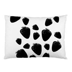 Black Strowberries Pillow Case (two Sides)
