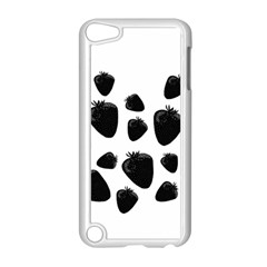 Black Strowberries Apple Ipod Touch 5 Case (white) by Valentinaart