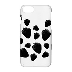 Black Strowberries Apple Iphone 7 Hardshell Case by Valentinaart