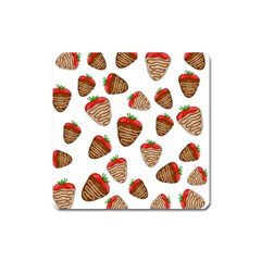 Chocolate Strawberries  Square Magnet by Valentinaart