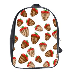 Chocolate Strawberries  School Bags(large)  by Valentinaart