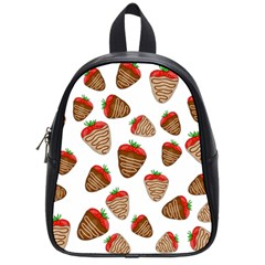 Chocolate Strawberries  School Bags (small)  by Valentinaart