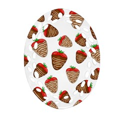 Chocolate Strawberries  Ornament (oval Filigree)
