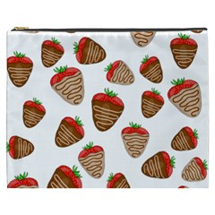 Chocolate Strawberries  Cosmetic Bag (xxxl)  by Valentinaart