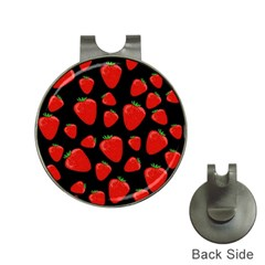 Strawberries Pattern Hat Clips With Golf Markers