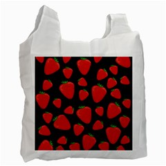 Strawberries Pattern Recycle Bag (two Side)