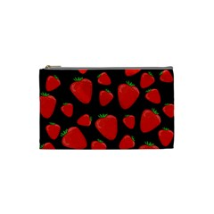 Strawberries Pattern Cosmetic Bag (small)  by Valentinaart