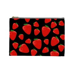 Strawberries Pattern Cosmetic Bag (large)  by Valentinaart
