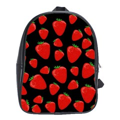 Strawberries Pattern School Bags(large)  by Valentinaart