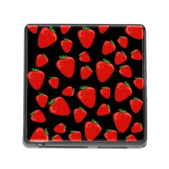 Strawberries Pattern Memory Card Reader (square) by Valentinaart