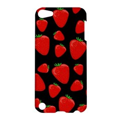 Strawberries Pattern Apple Ipod Touch 5 Hardshell Case by Valentinaart